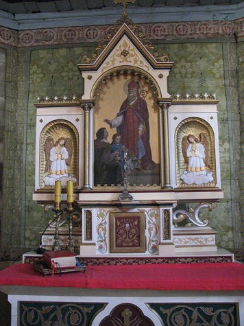 Church of Saint Valentine Woźniki Slaskie altar