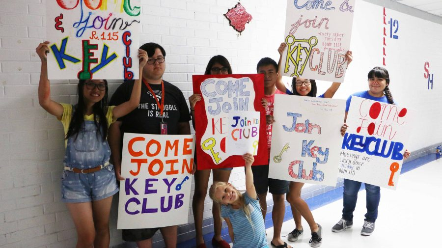 Last year's Key Club members pose for a group photo.