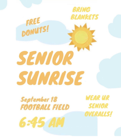 SENIOR SUNRISE WEDNESDAY